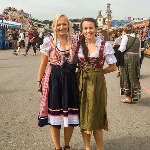 Oktoberfest dirndl dress & apron.